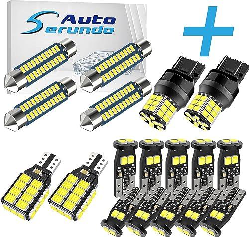 discount Serundo online sale Auto 4pcs 31mm DE3175 Led Bulb+ 10pcs outlet sale 194 LED Bulbs+2pcs 921 BackupLight+2pcs 7443 LED Bulbs sale