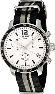 Tissot Men's Stainless Steel Quartz Watch with Nylon Strap, White, 19 (Model: T0954171703710)