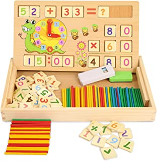 ZKMESI Educational Counting Toys Math Number Counting Teaching Tools Montessori Preschool Toys for Toddlers