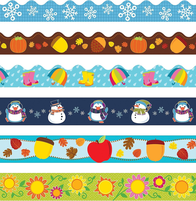 Carson Dellosa Portland Cheap mail order shopping Mall Seasonal Bulletin of Sc Board Borders—6-Pack