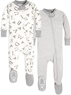 Baby Boy's Unisex Pajamas, Zip-Front Non-Slip Footed...