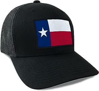 Texas State Flag Snapback Hat Black