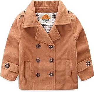 Baby Boy Bomber Jacket Plain Faux Wool Coat