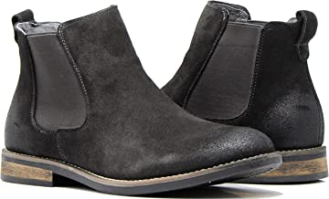 Enzo Romeo BL01 Men's Chelsea Boots Dress Fashion Slip On Suede Leather Ankle Boots