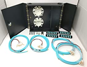 Ultra Spec Cables 4 LGX Panel Lockable Wall Mount Fiber Enclosure Kit, Includes 4 x Loaded OM3 Multimode Duplex LC-UPC LGX Panels and 4 x 3M 12 Strand OM3 LC-UPC Pigtails