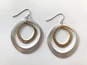 Handmade Halo Dangle Hoop Earrings - Cape Cod