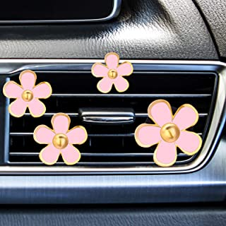 Mudder 8 Pieces Daisy Flowers Air Vent Clips Car Freshener Clip Air Vent Decorative Clip for Car Air Vent Decorations Acce...