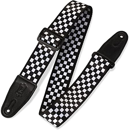 Genuine Leather Ends MPD2-005 Levys Leathers 2 Polyester Guitar Strap Sublimation-Printed with original artists Design
