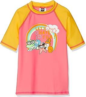 ARENA Awt Kids Girl UV S/S tee Camiseta De Manga Corta Niña con Protección UV Awt Niñas