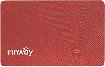 Innway Card - Credit-Card Size Rechargeable Bluetooth Finder for Wallet, Passport, Luggage (Red - Limited Edition)