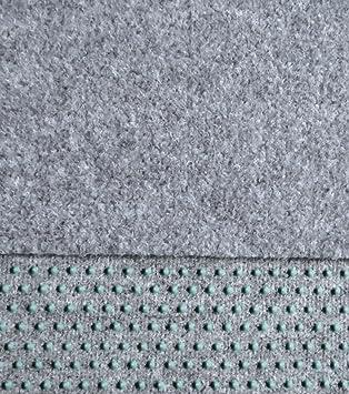 Kunstrasenteppich Fertigrasen mit Noppen Gr/ün Grau Anthrazit 400 x 200 cm, Grau - 901