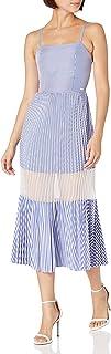 Armani Exchange A|X Women's Dress, White/Blue Stripes, 4