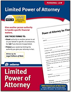 Adams Limited Power of Attorney, Forms and Instructions (LF240)