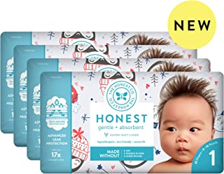 The Honest Company The honest company baby diapers with trueabsorb technology, winter wonder, size 1, 140 count, Winter Wonder, Size 1, 140 Count