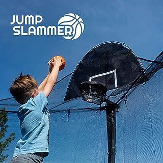 Jump Slammer Trampoline Basketball Hoop | Easy Install | Foam Ball Included | [Lifetime..