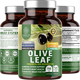 N1N Premium Olive Leaf Extract [Superior Strength with 20% Oleuropein] All Natural Antoxidant Supplement to...