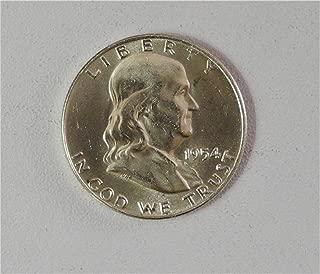 1954 D Silver Franklin Half Dollar Brilliant Uncirculated