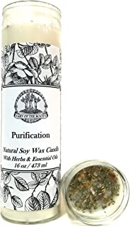 Purification 7 Day SOY Herbal & Scented Spell Candle for Negativity & Cleansing Wiccan Pagan Conjure Hoodoo