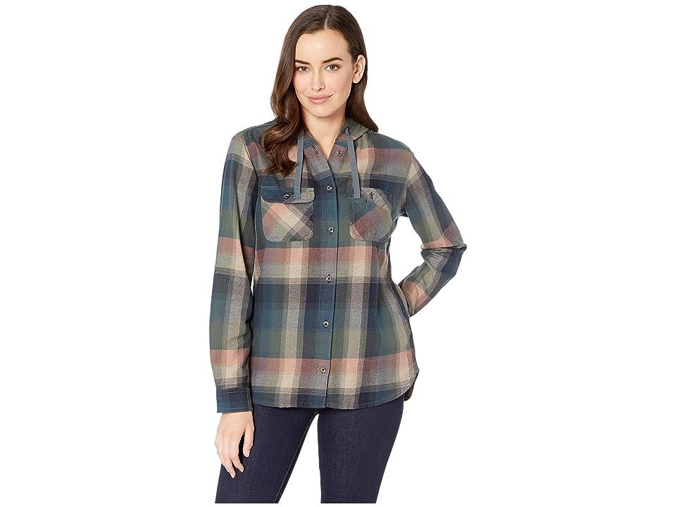 Carhartt Beartooth Hooded Flannel Shirt (Elm) Women