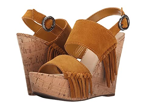Womens Sandals GUESS Shanan Yellow Suede