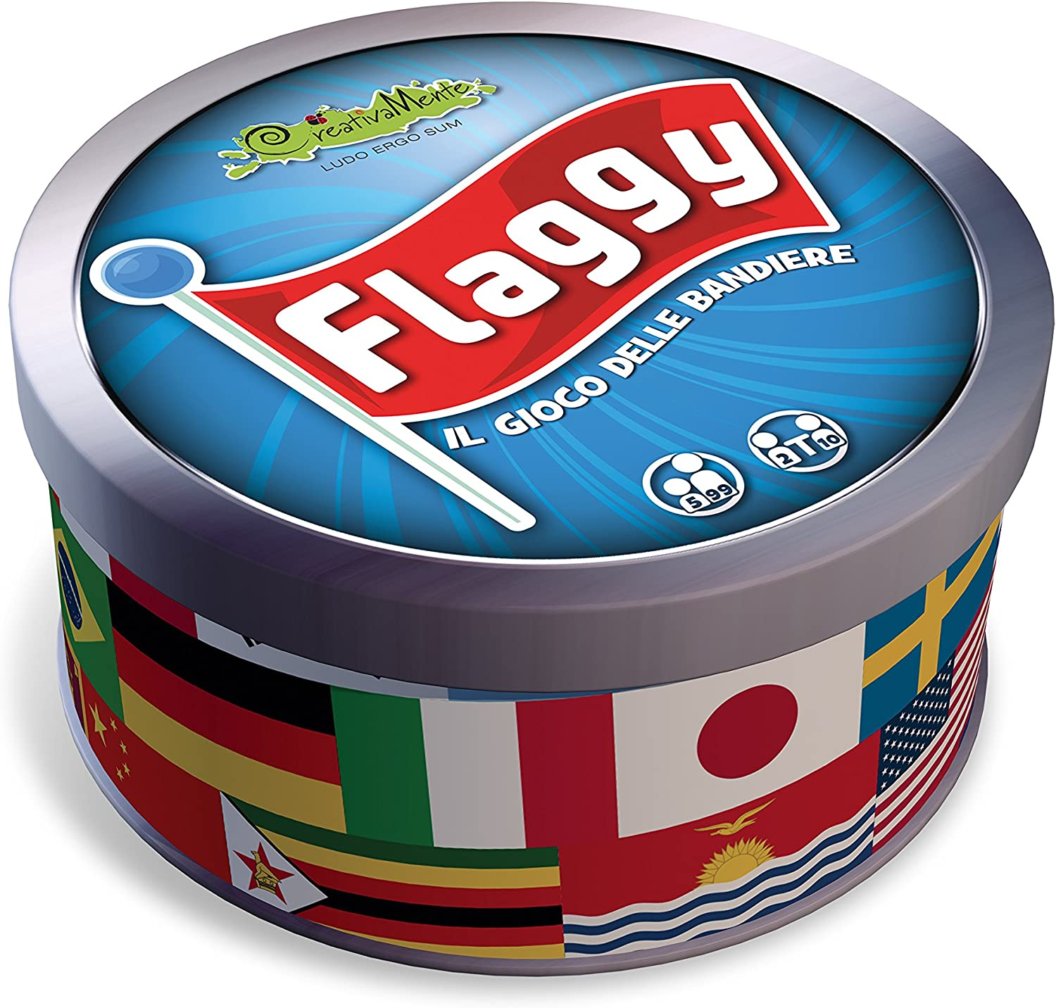 CreativaMente  Travel Game  Game of Society, Flags Geography, 541