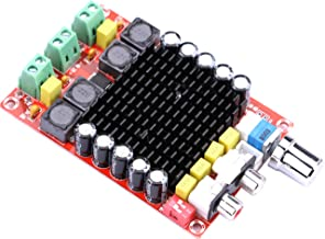 Audio Amplifier Board, Yeeco Dual Channel 100W+100W Digital Power Amplifier Board DC 14-32V 15V 20V 24V Car Audio Stereo AMP Module with Volume Knob for Audio System, DIY Sound System Component