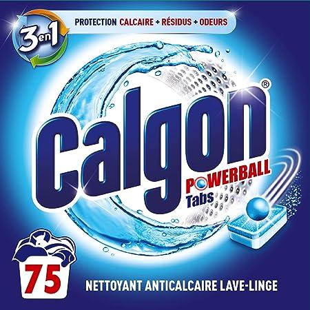 Calgon Pastilles Anticalcaire Nettoyant Lave-Linge 3en1, 75 tablettes