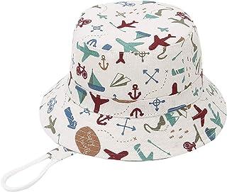 GEMVIE Chapeau de Pêcheur Enfant Chapeau de Soleil Bébé Bob Imprimé Respirant Protecion Solaire Eté Voyage