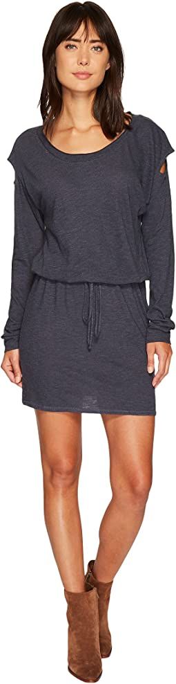 Lanston - Drop Shoulder Cut Out Mini Dress