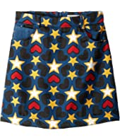 Stella McCartney Kids - Heart and Star Printed Denim Skirt (Little Kids/Big Kids)