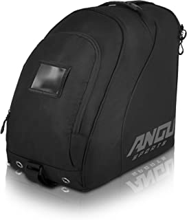 ANGU SPORTS Ski Boot Bag | Travel Luggage for Ski Gear, Boots, Gloves, Helmet, Goggles & Accessories | Boot Bag for Snowboard- & Ski Boots | Perfect for Air Travel | Quality Zippers | Ski Boot Bag