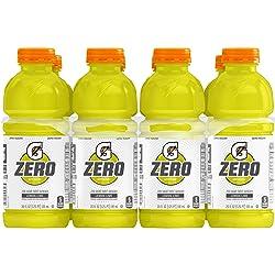Gatorade Zero Sugar Thirst Quencher, Lemon-Lime, 20 Ounce Bottles (Pack of 8)