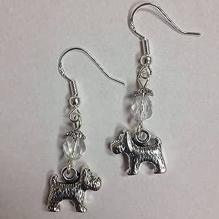 Terrier Dog Breed Earrings, Scottie, Yorkie, Small Breed Earrings, on sterling silver earwires