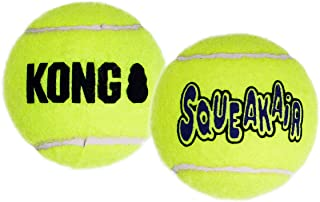 KONG - Squeakair Balls - Dog Toy Premium Squeak Tennis Balls, Gentle on Teeth (3 Pack) - For Small Dogs