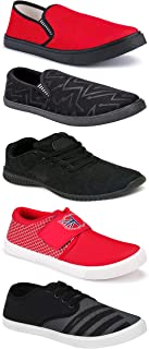 WORLD WEAR FOOTWEAR Sports Running Shoes/Casual/Sneakers/Loafers Shoes for MenMulticolors (Combo-(5)-1219-1221-1140-725-1109)