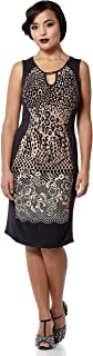 gatsbylady london Farah Leopard Print Bodycon Dress in Black/Brown