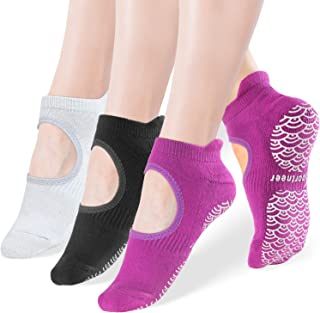 Yoga Socks for Women Non Slip Socks with Wave Grips, Anti-Skid for Pilates, Barre, Ballet, Dance, Trampolining,Barefoot Wo...