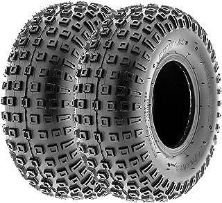 SunF 145/70-6 145/70x6 ATV UTV All Terrain Trail Replacement 6 PR Tubeless Tires A011, [Set of 2]