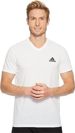 adidas Ultimate V-Neck Short Sleeve Tee