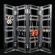 EEEKit Earrings Ear Studs Necklace Jewelry Display Rack Stand Organizer Case Holder Box for Jewelry Store, Show Window, Lattice, Table Top