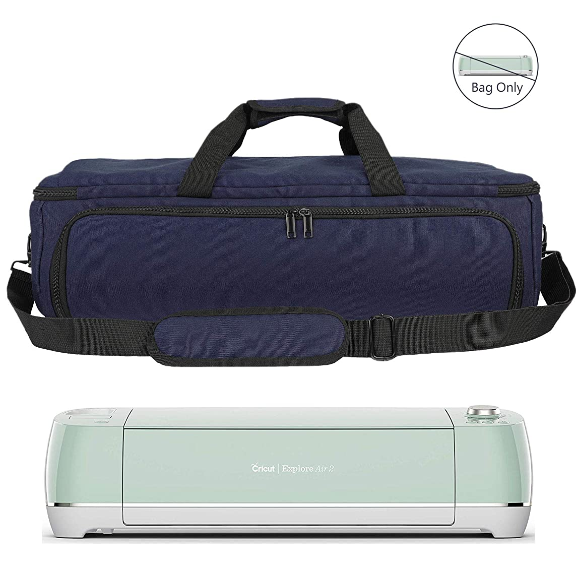 Carrying Bag Compatible with Cricut Explore Air(Air2) / Cricut Maker, Tote Nylon Carry Bag Fit to Cricut Die-Cut Machine and Supplies