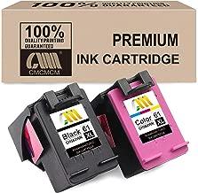 CMCMCM Remanufactured Ink Cartridge for 61 XL Combo Pack for Envy 5530 4500 4502 5534 4504 OfficeJet 4632 2624 2620 2622 DeskJet 1000 1010 2540 1510 2050 1512 2544 Printer, Black & Color