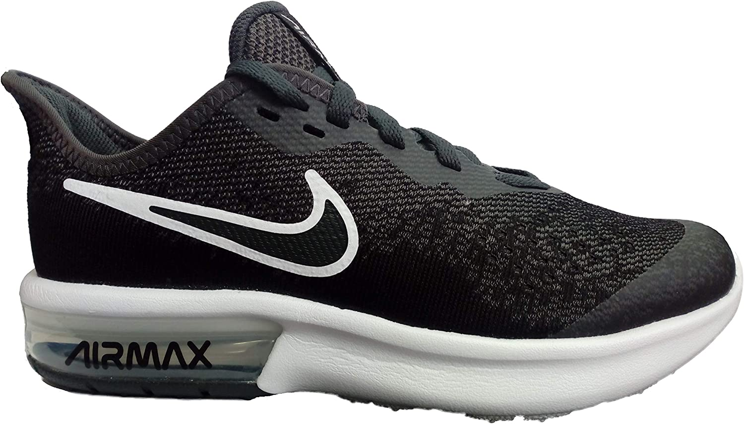 Nike Men's Air Max Sequent 4 Ep (gs) Track & Field shoes, Multicolour (Anthracite Black Metallic Silver White 000), 6 UK