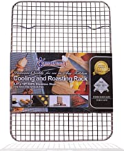 """KITCHENATICS 100% Stainless Steel Wire Cooling and Roasting Rack Fits Small Quarter Sheet Size Baking Pan, Oven Safe, Commercial Quality, Heavy Duty for Cooking, Roasting, Drying, Grilling (8.5""""X12"""")"""