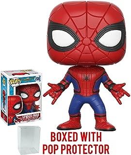 Includes Compatible Pop Box Protector Case Spider-Man w//Headphones Funko Pop Vinyl Figure Marvel: Spider-Man Homecoming