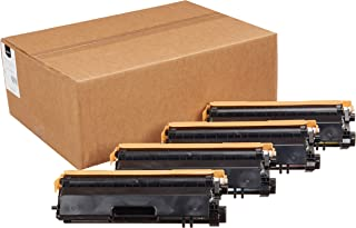 AmazonBasics Remanufactured High-Yield Toner Cartridges, Replacement for Brother TN315 (1 Black, 1 Cyan, 1 Magenta, 1 Yell...