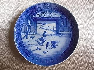 ROYAL COPENHAGEN 1969 Porcelin Christmas Plate - In The Old Farmyard