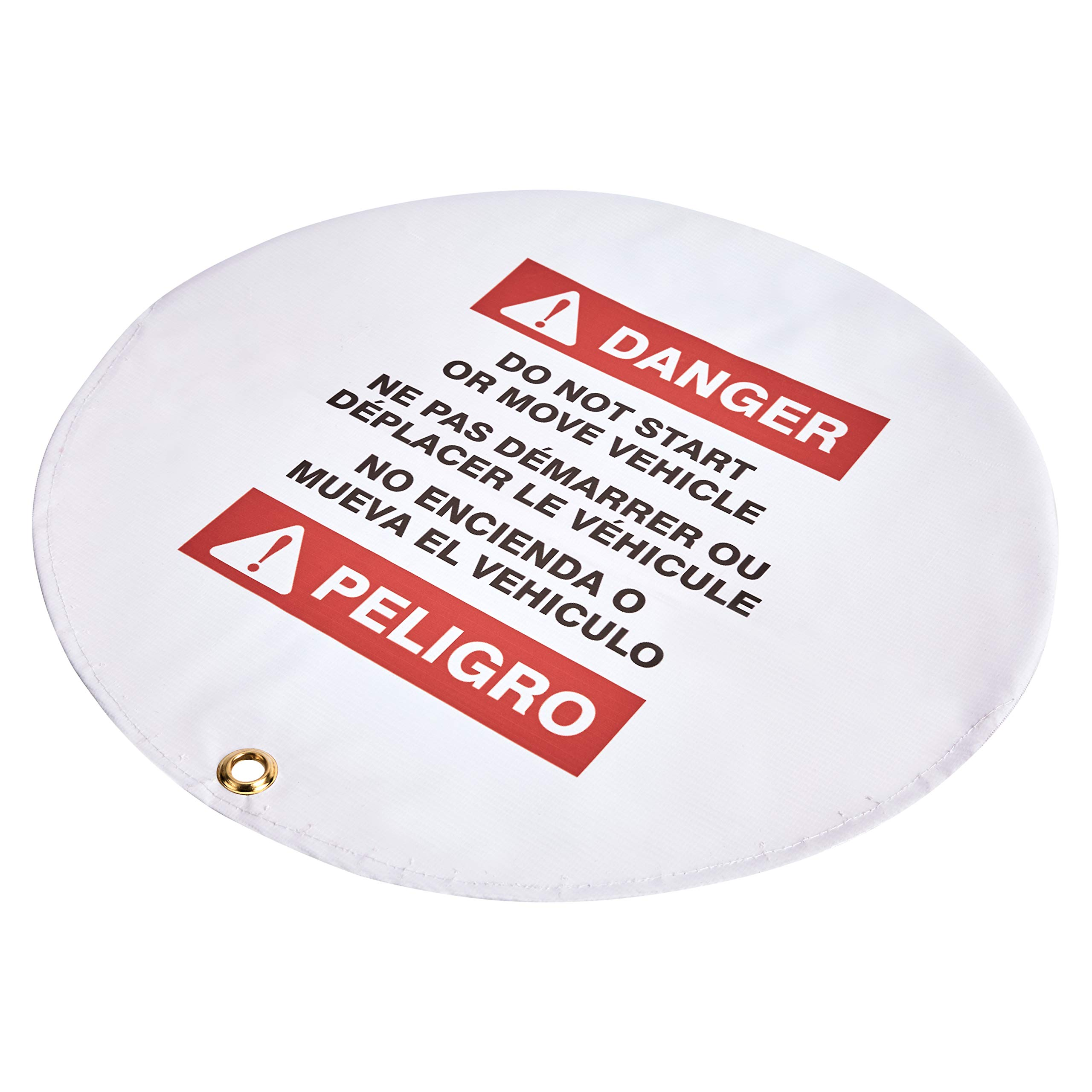 """AmazonCommercial Lockout Steering Wheel Cover, 15"""" Diameter"""