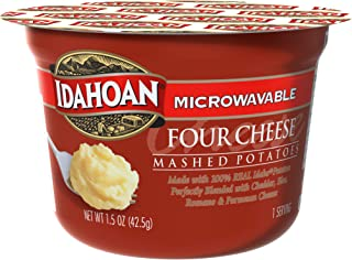 Idahoan Four Cheese Mashed Potatoes, Made with Gluten-Free 100-Percent Real Idaho Potatoes, 1.5 oz Cup (Pack of 10)