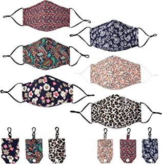 Fabric Printed Face Cloth Mask, Washable and Reusable Seamless Shields Face Covering for Women Girls